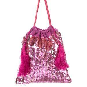 The ATTICO Pink Sequin Pouch